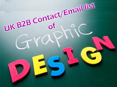 Send you 6000 plus current uk graphic designer contact/email list