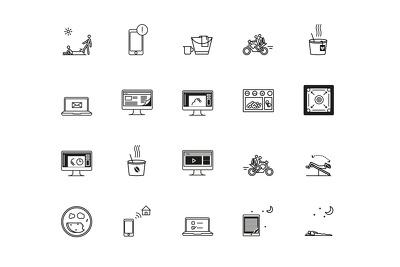 Design Set of 10 Custom Unique Professional icons