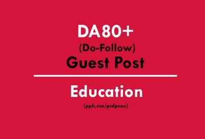 Guest Post on Education or edu site DA80+ (Do-Follow)
