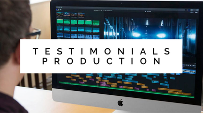 Produce a 2 minutes testimonials video (including editing)