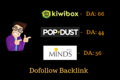 Publish Guest Post On Popdust - DA 48, Minds - DA 59, Kiwibox - DA 69, Dofollow