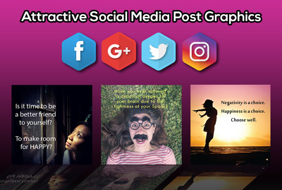 Create 5 social media posts images
