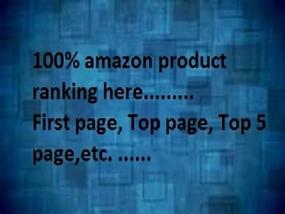 Do first page anywhere from amazon seo for your product  with guarantee