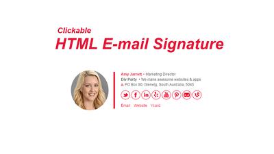 Create Professional Html Email Signature