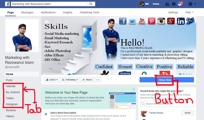 Provide you awesome customized Facebook business page,fan page or company page
