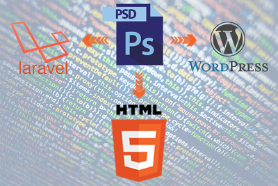 Convert your web design (per page) PSD to HTML/CSS/JS Code