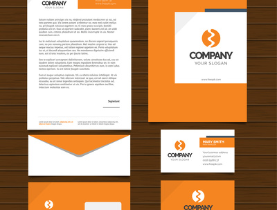 Deliver designed corporate identity for any company
