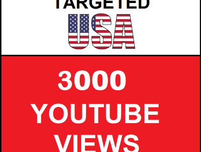Added 3,000 USA Targeted Youtube Views