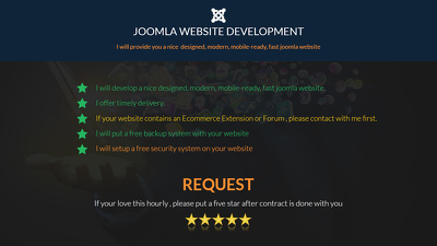 Develop nicely designed, mobile ready, responsive and modern joomla website