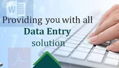 Do 3 hours Data Entry Work