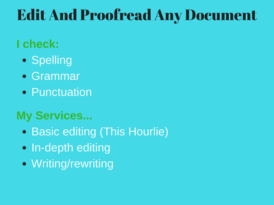 Edit And Proofread Any Document {1000 words}