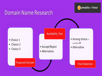 Conduct domain name research