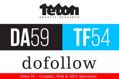 Publish a guest post on TetonGravity.com - DA59, TF54