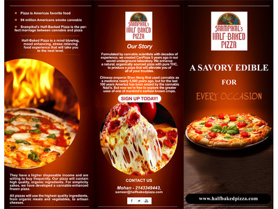 I can design for you a unique, eye-catching menu/flyer/brochure