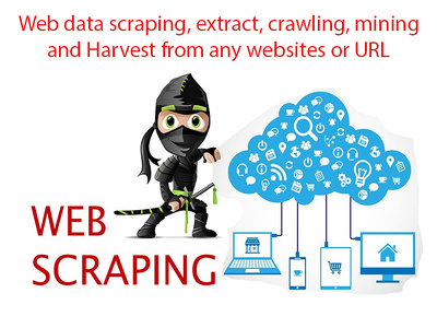 Offer web data scraping/extract/crawling/mining/Harvest from any website or url