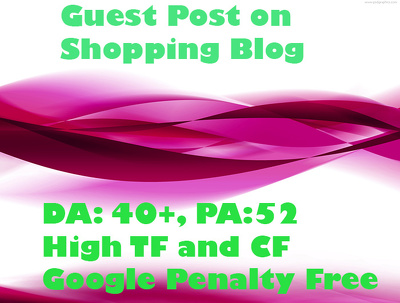 Publish Guest Post on  Shopping Blog DA 45