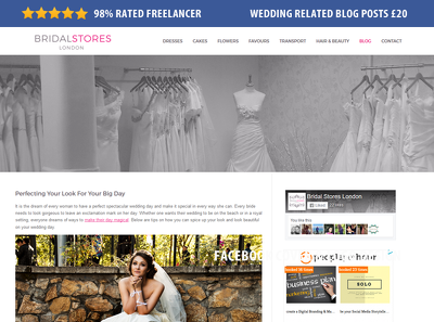 Publish your blog post on my wedding related blog