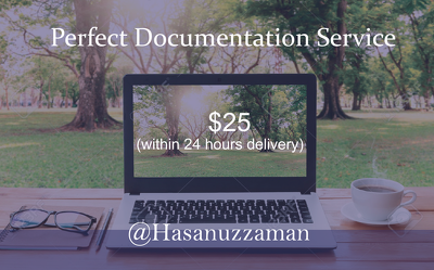 Do perfect documentation of your project by 24 hours (per 25 pages for only $25)