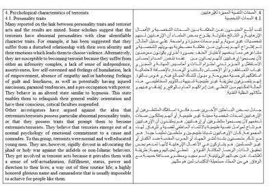 Translate to and from Arabic (1,000 words)