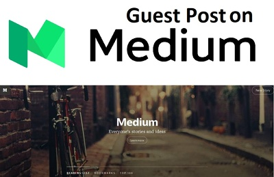 Publish an article or guest post on medium.com (DA 93 & PA 94)