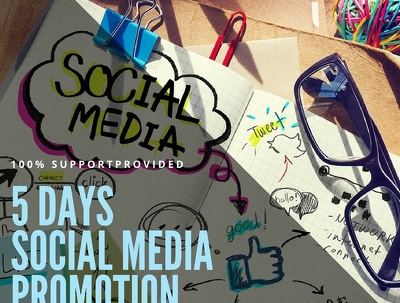 Promote your social media channels for 5 days