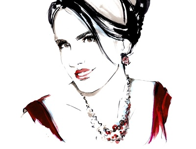 Make sketch portrait (the style I used for De Beers events)