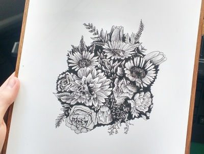 Draw a Beautiful Flower Design