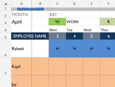 Design a Project Tracker/ Scheduler in Excel or Google Sheets