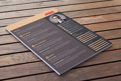 Design Curriculum Vitae CV, resume and cover letter