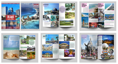 Design a brilliant eye-catching and professional Travel Guide