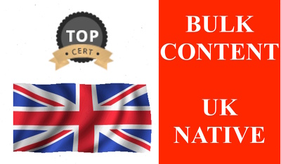 Write 5 * 500 Words Articles Or Blogs In Bulk By UK Native