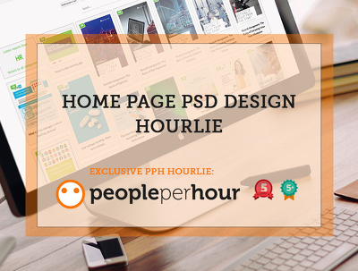 Design a beautiful home page PSD website mockup