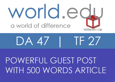 Write and Publish Guest Post on WORLD dot EDU