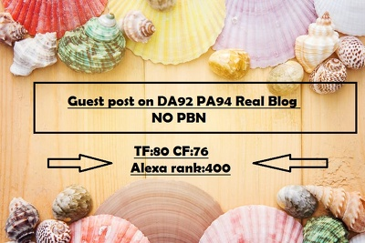 Write and guest post DA92 PA94 TF80 Real Blog with 2 dofollow link