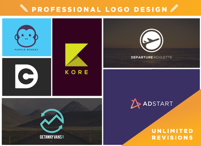 Design a professional logo with Unlimited revisions + Free Favicon