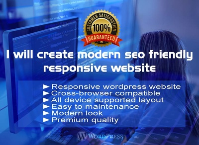 Design And Develop SEO Friendly, Responsive  WordPress Website