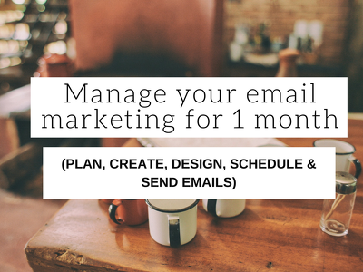 Manage your email marketing for 1 month (plan, create, design, schedule, send, etc.)