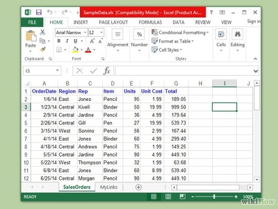 Create an Excel Spreadsheet with up to 100 rows of data input.