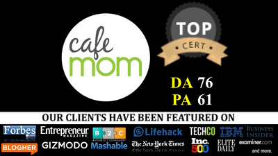 Publish a guest post on CafeMom - CafeMom.com - DA76, PA61 + Parenting niche blogs
