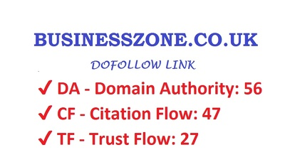 Write & publish a guest post on BusinessZone.co.uk DA 56, PA 63 with Dofollow Link