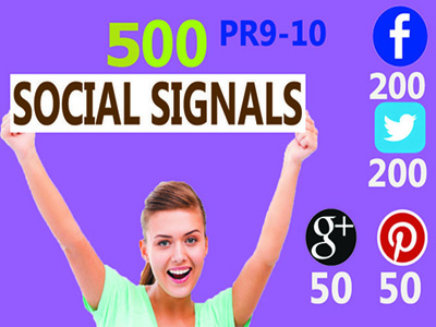 Build manully 500 SEO friendly Social Signals