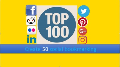 Give you 100 Social Bookmarking,Manually
