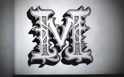 Create logo/letters vintage style !