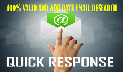 Collect 100 valid and active business email or do email research for your business