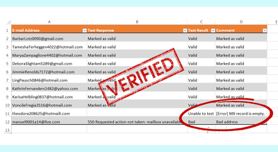 Do a verification of your email list to reduce bounce rate