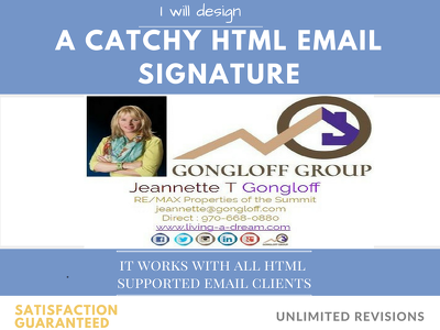 Convert PSD to clickable,editable HTML email signatur for all email client compatible