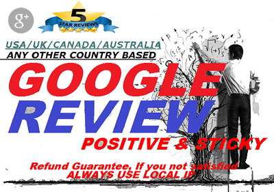 Write and post a google plus local business reviews for you