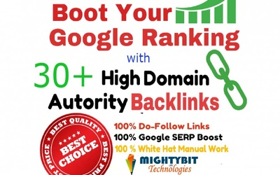 Boost Your website Ranking In Google with 60+ DA Backlinks, Google Safe