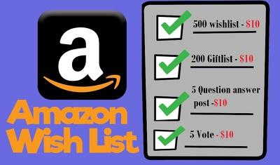 Do 500 wishlist for amazon product rank improving