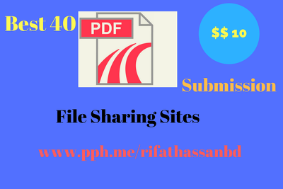 Do best 40 PDF Submission and File Sharing sites
